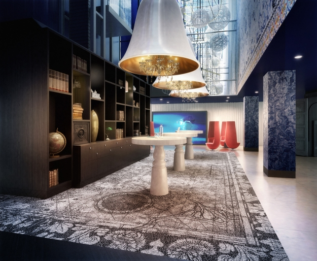 The reception at the Andaz, Amsterdam