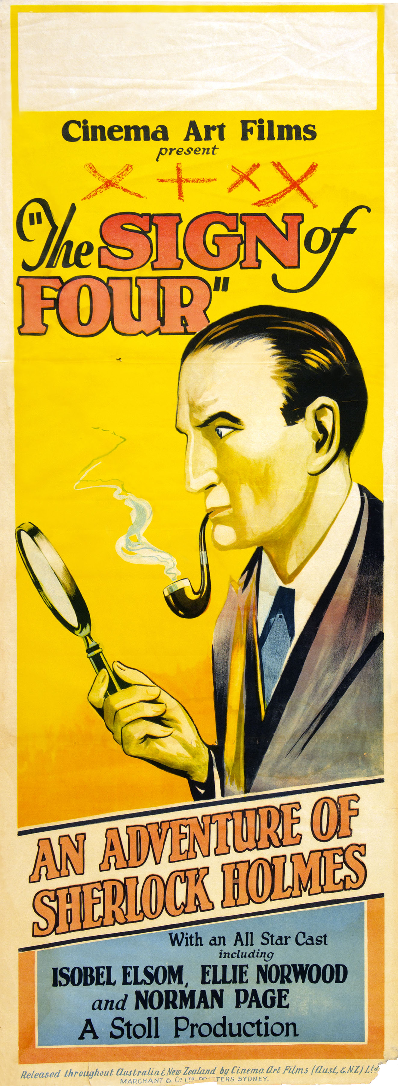 Watson robtryan the sign of four australian film poster 1923 fandeluxe Images