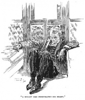 Illustration by Frank Craig for The Man With The Watches from The Strand Magazine.